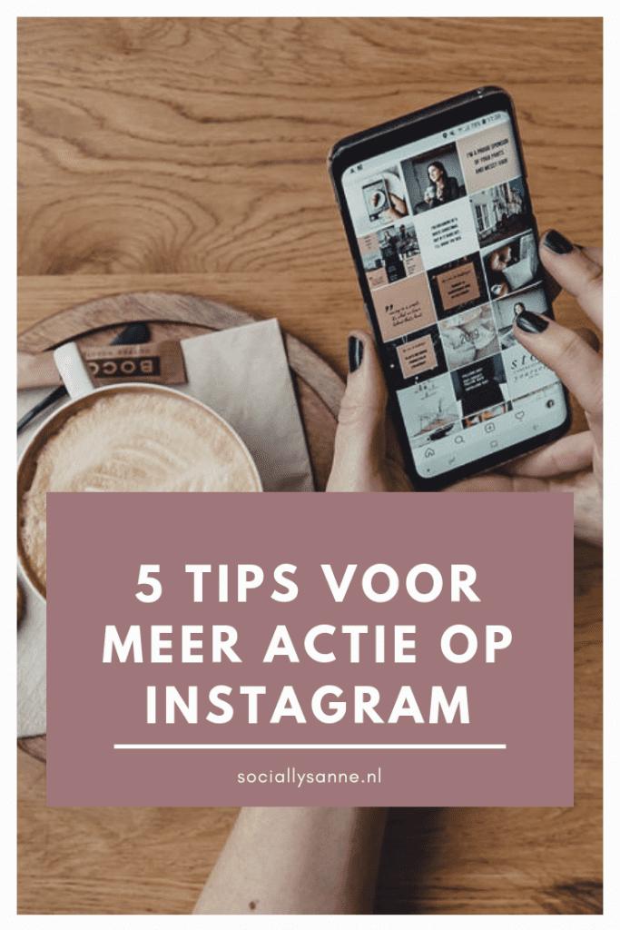 5 tips voor meer actie en volgers op Instagram | SOCIALLYSANNE.NL | #instagram #engagement #tips #zichtbaarheid
