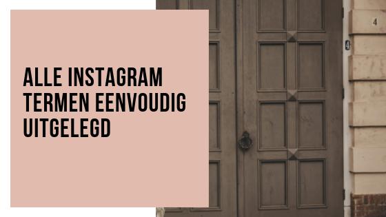 Instagram termen