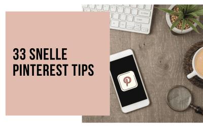 33 snelle Pinterest tips