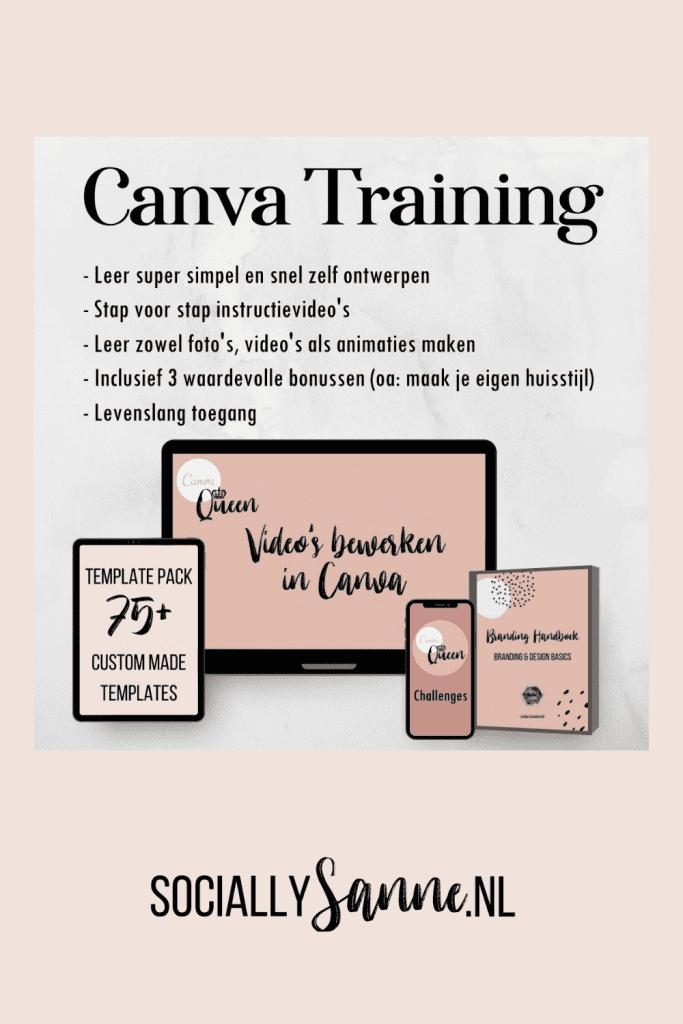 Canva Training Pinterest Socially Sanne