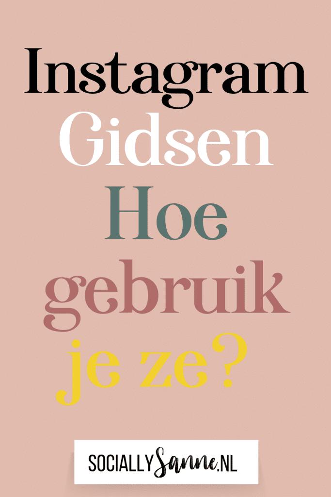 Alles over Instagram Gidsen Pin 2